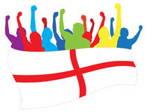 England fans illustration Royalty Free Stock Photo