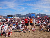 England fans in Marseille fan zone Royalty Free Stock Images