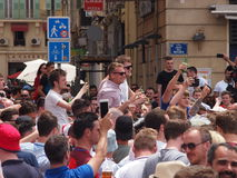 England fans in Marseille Stock Photography