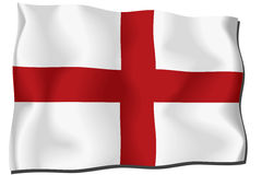 England flag. Flag of England waving in the wind Stock Illustration