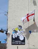 England flag, advert with sheep for Tour de France Stock Images