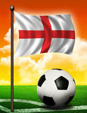 England flag and ball royalty free stock image