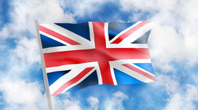 England flag on a blue background. 3d illustration Stock Photo