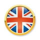 England flag button Royalty Free Stock Photos