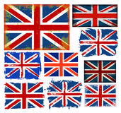 England flag collection vector Royalty Free Stock Images