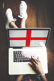 England Flag Country Nationality Liberty Concept.  Royalty Free Stock Photo
