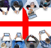 England Flag Country Nationality Liberty Concept Stock Images