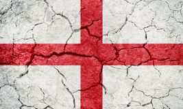 England flag. On dry earth ground texture background stock illustration