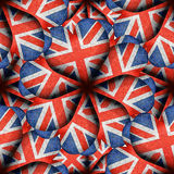 England Flag Heart Shaped Pattern Royalty Free Stock Photography