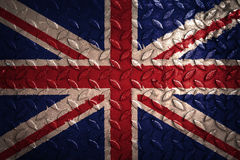 England flag,metal texture on background. England  flag,metal texture on background Royalty Free Stock Photos