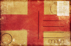 England flag postcard Royalty Free Stock Photos