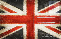 England flag postcard Royalty Free Stock Images