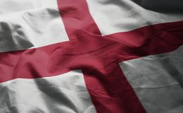 England Flag Rumpled Close Up.  stock image
