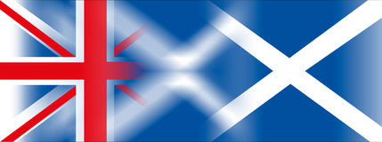 England flag and scotland flag. Original graphic elaboration, file royalty free stock photo