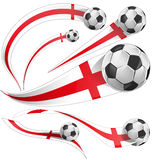 England  flag  with soccer ball Royalty Free Stock Images