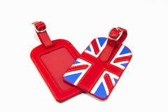 England Flag Style Luggage Tag Stock Photo
