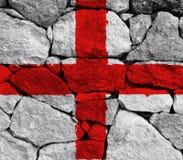 England flag. On white background royalty free stock image