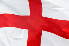 England flag in the wind in sunlight Stock Photo