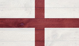 England - flag on wood boards with nails Royalty Free Stock Photos