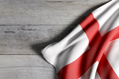 England flag on wooden surface Royalty Free Stock Photography
