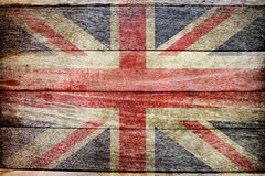 ENGLAND flagga på wood bakgrund royaltyfria bilder