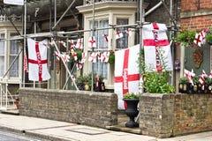 England-Flaggen Stockfotografie