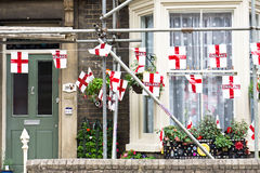 England-Flaggen Stockbild