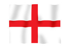 England fluttering. Fluttering image of the English national flag Stock Photo
