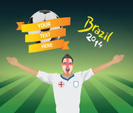 England football fan Stock Photo