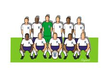 England football team 2018. Qualified for the 2018 world cup in Russia Royalty Free Stock Photo