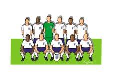 England fotbollslag 2018 vektor illustrationer