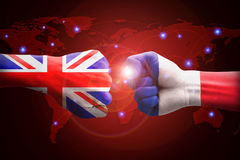 England and France against competitors of world business. Royalty Free Stock Photo