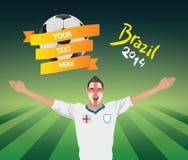 England-Fußballfan Stockfoto