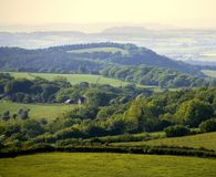 England gloucestershire der Wald des Dekans, wie von ruardean gesehen Lizenzfreies Stockfoto