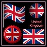 England graphic set Stock Photos