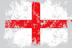 England grunge, old, scratched style flag Stock Image