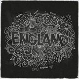 England hand lettering and doodles elements Royalty Free Stock Photos