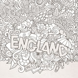 England hand lettering and doodles elements Royalty Free Stock Images
