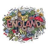 England hand lettering and doodles elements. Background. Vector illustration vector illustration