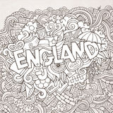 England hand lettering and doodles elements Stock Photo
