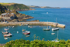 England harbour Mevagissey Cornwall Royalty Free Stock Images