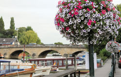 England: Henley-on-Thames looking down the river Royalty Free Stock Photography