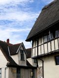 England: historic cottages in Norwich - v Stock Image