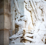 england  historic   marble and statue in old city of london Royalty Free Stock Photos