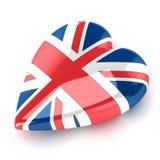 england hjärta Arkivfoto