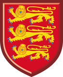 England. Königliche Arme Lizenzfreie Stockbilder