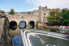 england kąpielowy bridżowy pulteney Somerset uk zdjęcie stock