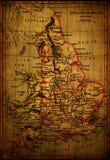 England-Karte Stockbild