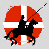 England Knight Warrior Silhouette on white background. Isolated Vector illustration Stock Image