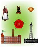England- - Lancashire-Vektor Illustrationen Stockbild